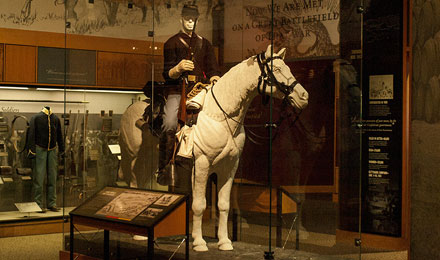 View of Gettysburg Horse Soldier Exhibit