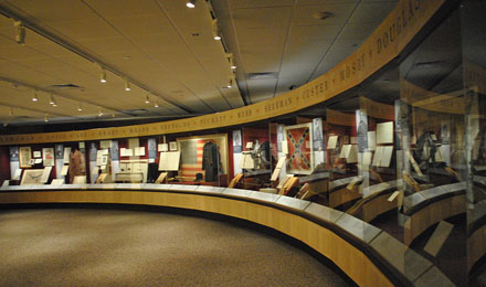 Interior view of Gettysburg National Park Museum